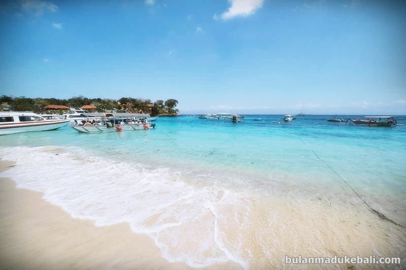 Pantai di Coconut Beach resort Nusa Lembongan